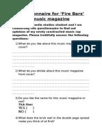 Focus Group - Questionnaire