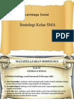 Materi Sosiologi SMA