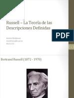 Russell - La Teoria de La Descripciones Definidas