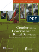 Gender and Governance in Rural Services