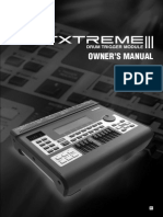 Yamaha Dtxtreme III Owners Manual