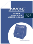 Simmons DA200S Manual