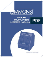 Simmons DA200S Manual