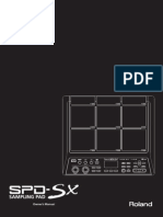 Roland SPD-SX Owner's Manual