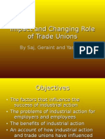 Impact and Changing Role of Trade Unions Saj