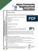 ACNA Newsletter April 2015
