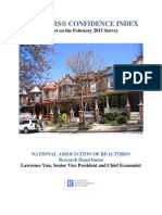February 2015 REALTORS® Confidence Index