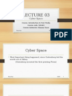 Lecture 3 Cyberspace
