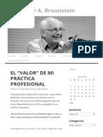 "El ""Valor"" de Mi Práctica Profesional _ Dr. Néstor A"
