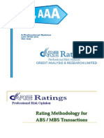 CARE's Securitization Rating Methodology Jul 2011