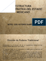 Estructura Administrativa Del Estado Mex. - Md. Ramos Peña