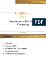 Part 1 Introduction to Distributed Computing