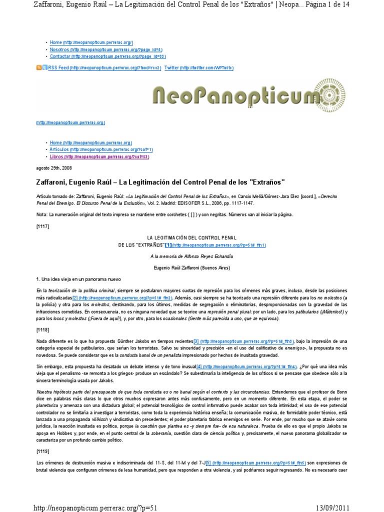 Derecho Penal Del Enemigo Gunther Jakobs Epub Download