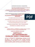 Modelo de Estatuto de Ecovila Comunitária