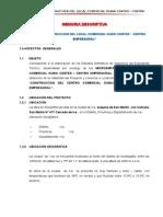Memoria Descriptiva CC. DUBAI CENTER