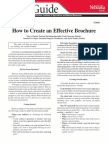 How to Creat Effective Brochure