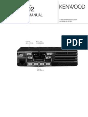 Kenwood TK-7102 (Manual de Servicio)   Amplifier   Radio