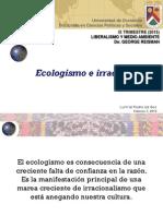 Ecologismo e Irracionalismo