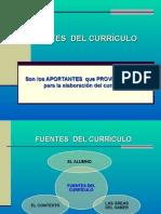 Fuentes y Fundamentos Del Currículo. UCP 2015