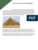 Las once Cosas Que Desconocias Acerca Del Viejo Egipto
