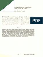 Ambivalencia y Antagonismo Del Sentimiento Amororos en La Poesía de Catulo