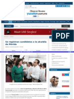 21-03-2015 Se registran candidatos a la alcaldía de Mérida