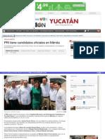 22-03-2015 PRI tiene candidatos oficiales en Mérida
