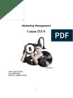 Marketing Management - Assigment