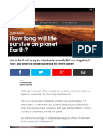 BBC How Long Will Life Last