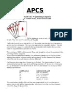 APCS Deck of Cards Programming Assignment