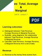 unit 6 - lesson 7 - revenue curves