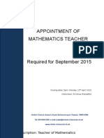 Teacher of Mathematics