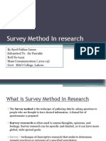 Survey Method in Research