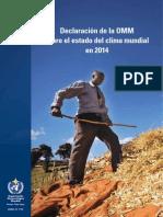 Declaración de la OMM sobre el estado del clima mundial en 2014