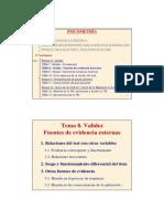 Tema 8 Validez Evidencia Externa