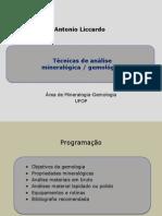 07 - Técnicas Análise Mineralogica Gemologica