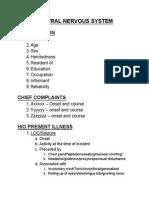 Case sheet Proforma