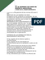 Normas ISO en Mantto