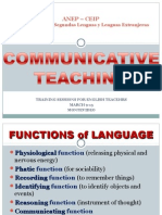 2. Módulo Communicative Language Teaching -  2015