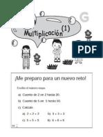Matemáticas - Ejercicios de Multiplicación