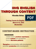 3. Módulo Teaching English Through Content -  2015