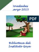 Boletín Novedades Marzo 2015
