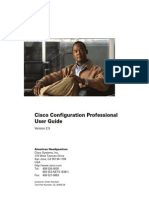 Cisco Configuration Professional (CCP) User Guide