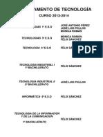 Programación TECNOLOGÍA 2013 14