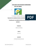 Clasificacion de Establecimientos de a y B