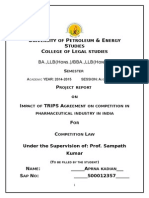 IMPACT OF TRIPS AGREEMENT ON COMPETITION IN PHARMACEUTICAL INDUSTRY IN INDIA
