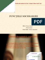 Functiile Sociologiei