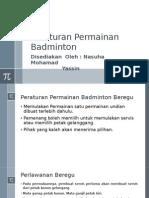 Peraturan Permainan Badminton.pptx