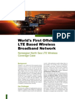 World s First Offshore LTE Based Wireless Broadband Network--Norwegian North Sea LTE Wireless Coverage Case