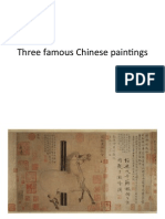 Three Famous Chinese Paintings
